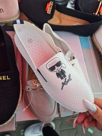 Buty damskie Karl Lagerfeld eko skóra trampki tenisówki 36 do 41