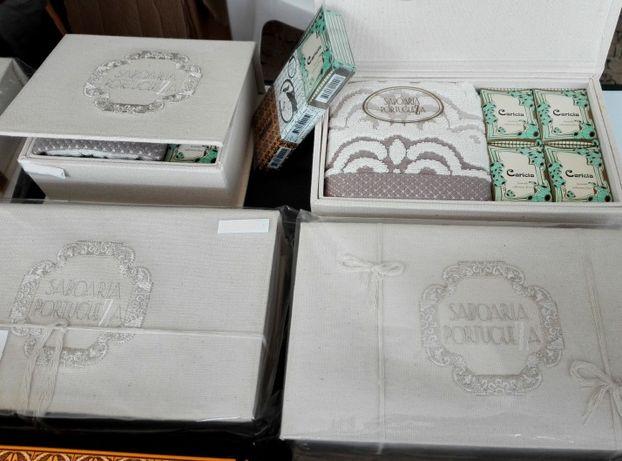 Sabonete fino e caixa de linho feita à mão - Saboaria Portuguesa