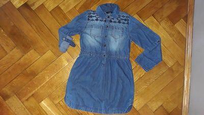 Tunika jeansowa firmy George w rozmiarze na 7-8 lat