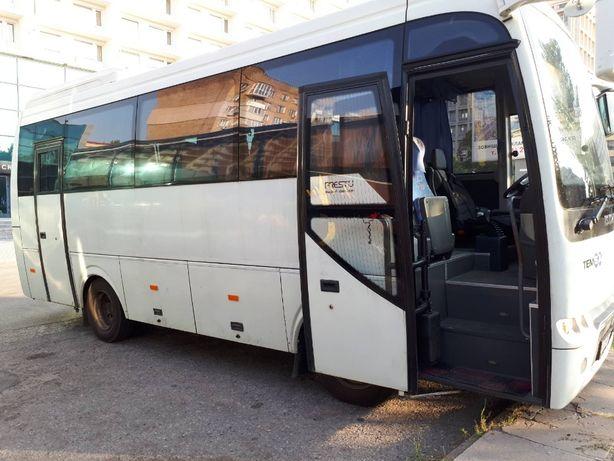 Пассажирские перевозки ISUZU 29 м. Доставка сотрудников к месту работы