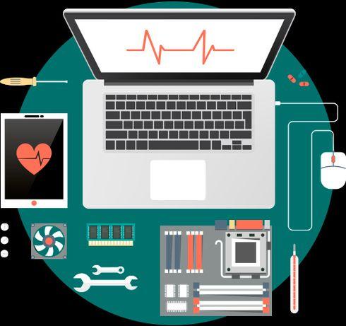 Качественный ремонт и настройка компьютеров и телефонов