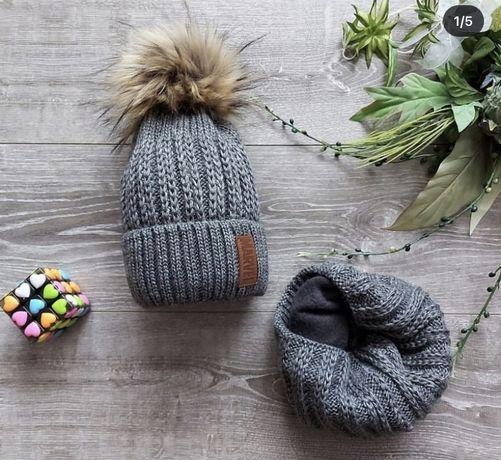 Набір для хлопчика шапка + хомут