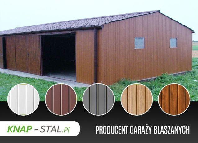Garaż Blaszany 9x5 z czterema bramami - KnapStal Garaże
