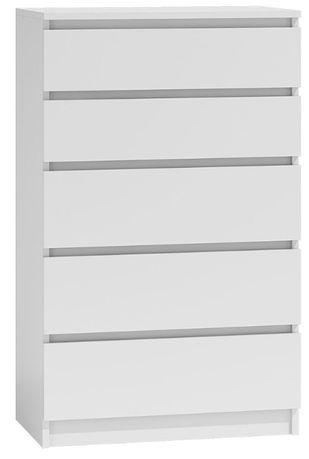 Biała lakierowana nowoczesna komoda z szufladami Dalia
