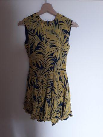 Sukienka w palmy h& m roz 34