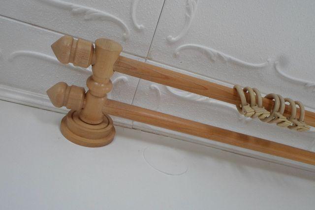 karnisze drewniane podwójne