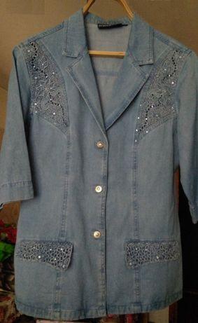 Блуза-жакет джинсовая, бренд LAFEIPIZA, р-р 50-52