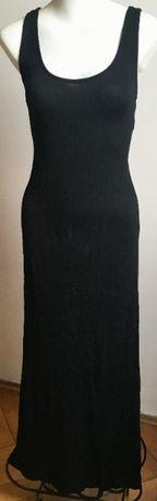MANGO maxi czarna sukienka długa S nowa! idealna