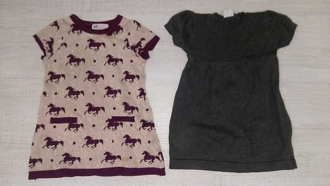 2 демисезонных платья для девочки (H&M и Polarn O.Pyret)