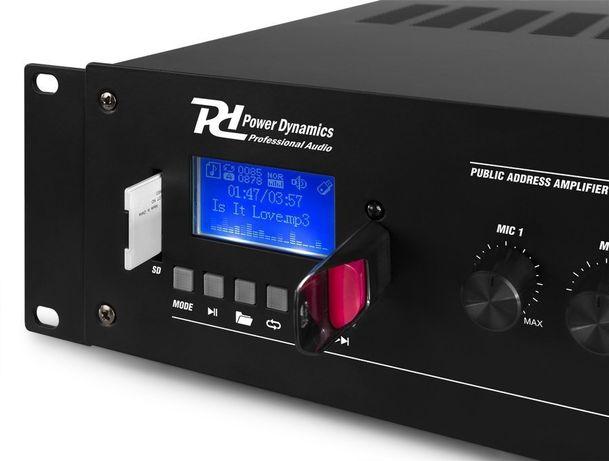 Wzmacniacz instalacyjny z mikserem 100V 120W PD PRM120