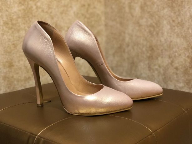 Пудровые туфли Mario Muzi (свадьба, выпускной)
