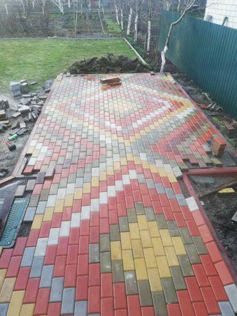 Укладка изготовление тротуарной плитки. Все отделочные работы.
