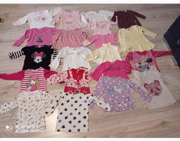 Bluzeczki,koszulki dla dziewczynki z długim rękawem 74,80,86,92,98,104