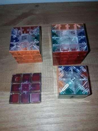 Cubo mágico - 2x2x2, 3x3x3, 4x4x4 e 1x3x3 transparentes
