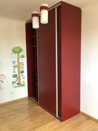 GOTOWA DO ODBIORU Szafa wnękowa przesuwne drzwi duża gratis lampa