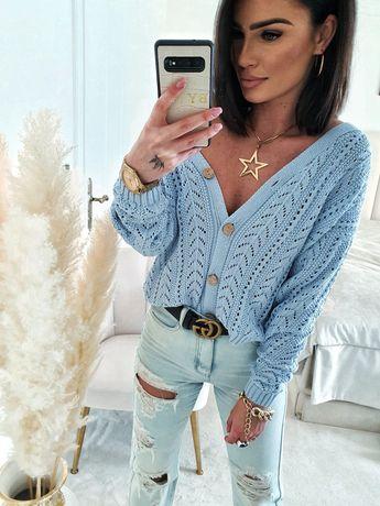 Piękne ażurowe sweterki By ME Polskiego Producenta S M L