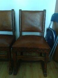 krzesła skóra,drewno dąb