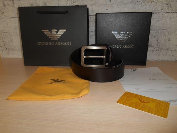 Armani Męski pasek firmowy, skóra naturalna, Włochy 226