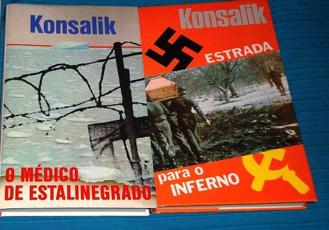 3 livros de Konsalik - portes envio incluídos