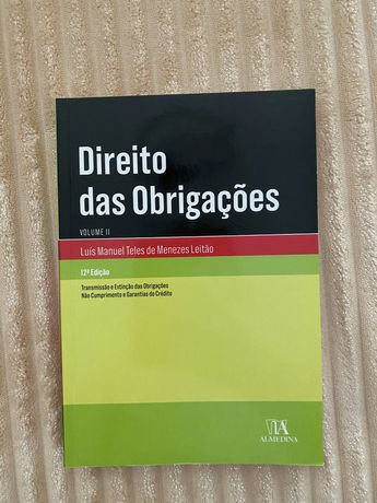 Direito das Obrigações, V.II - Menezes Leitão