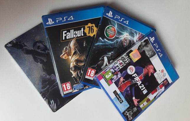 Pack: 3 Jogos PS4- FIFA 21, Nioh, Fallout76 + Capa Call Of Duty MW
