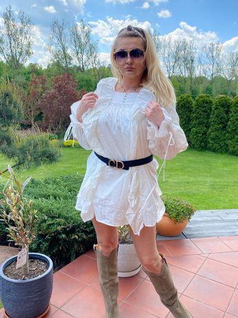 Boho sukienka Zimmermann biała r.M Pinko