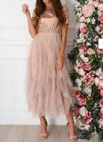 Sukienka tiulowa wieczorowa na wesele