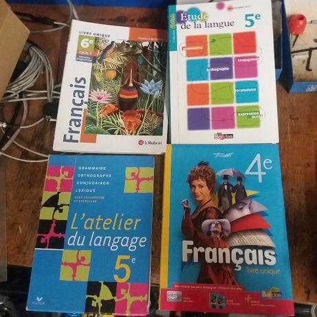 zestaw 4 podręczników do języka francuskiego