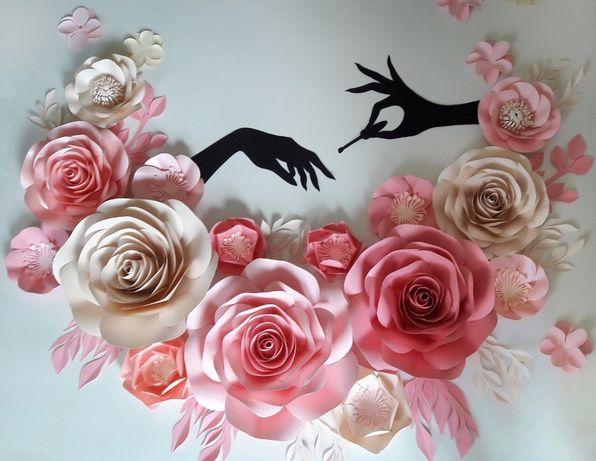 Бумажные цветы из бумаги паперові квіти з паперу фотозна день рождения