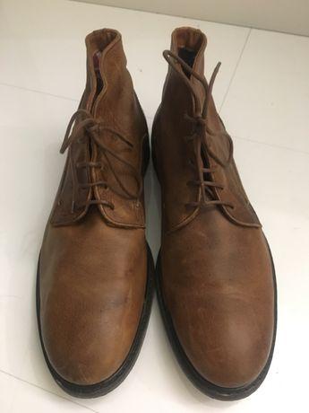 Tommy Hilfiger buty skórzane brązowe