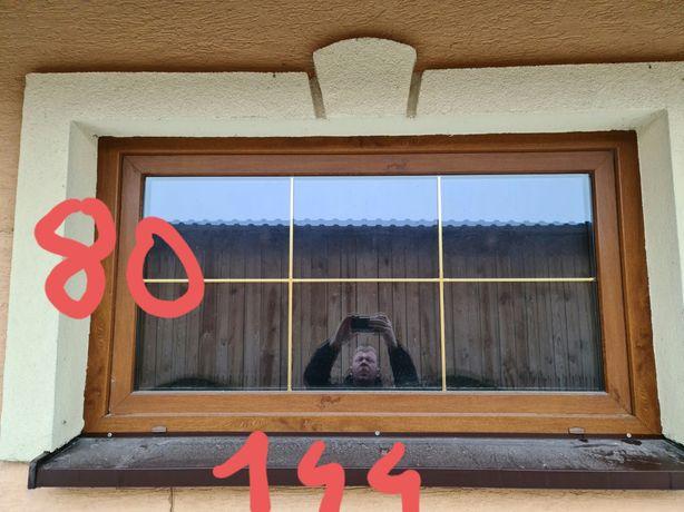 Okna złoty dąb  z demontażu