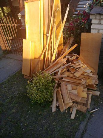 Drewno boazeria lakierowana z rozbiórki