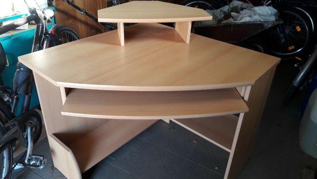 biurko narożne z półką na klawiaturę