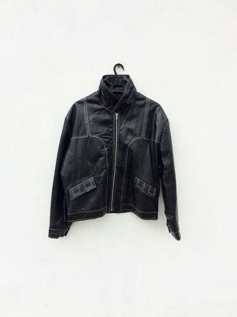 Натуральная кожаная мужская куртка косуха на холодную осень или зиму
