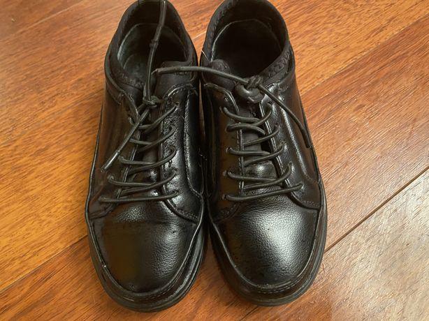 Туфли кожаные для школы