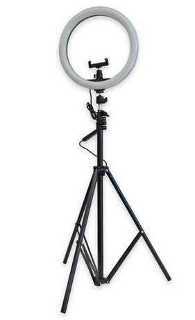Pack Selfie/ broadcast luz LED 12W Dimável + Tripé Ext. (2 mts)