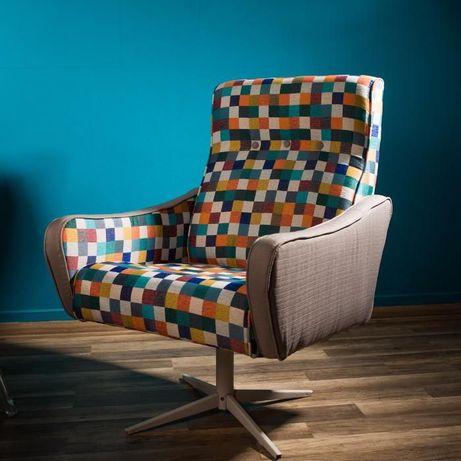 fotel z lat 60 odnowiony