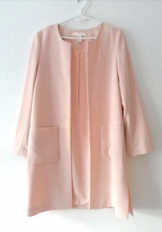 H&M płaszczyk na wiosne pudrowy róż NUDE 36-38 S