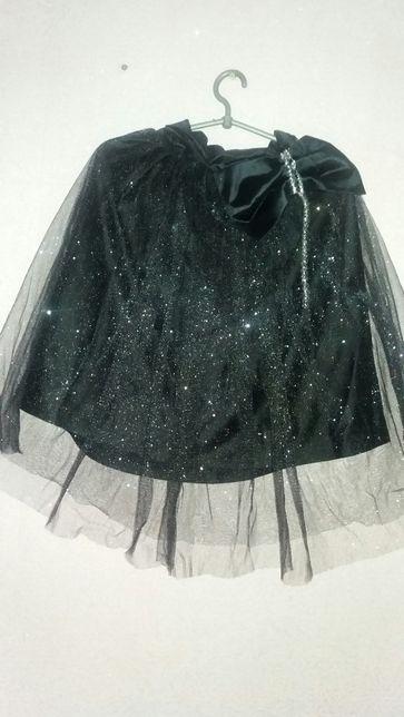 Продам новогоднюю юбку и аксессуар на голову для костюма ночки.