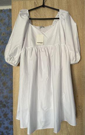 Крутое новое белое платье S размер