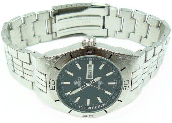 Piękny zegarek Perfect Klasyk Datownik Stoper Timer 3Kolory