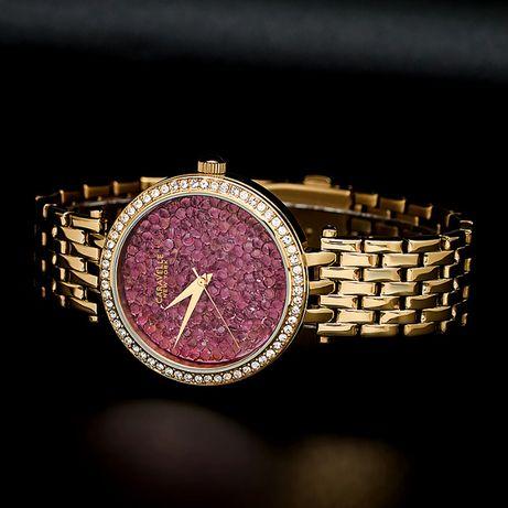 Caravelle Bransoleta w kolorze złota zegarek 44L212 nowy metki