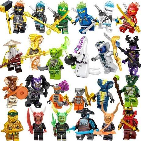 NINJAGO figurki - klocki 24szt. kompatybilne z lego