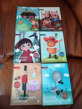 Książka, książki, czarujace opowieści, czerwony kapturek, kot w butach