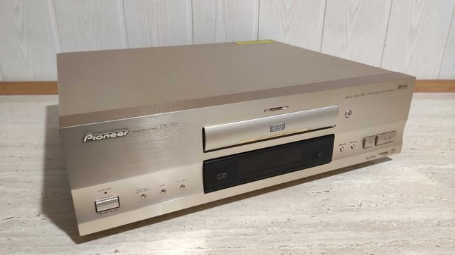 Odtwarzacz CD DVD Pioneer DV-717 Made in Japan Szampański wysoki model