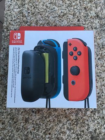 Joy-Con Nintendo Switch - Carregador de pilhas AA