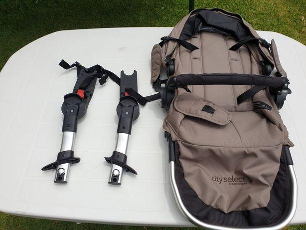 Baby Jogger City Select (carro gémeos) - Segundo assento + acessórios
