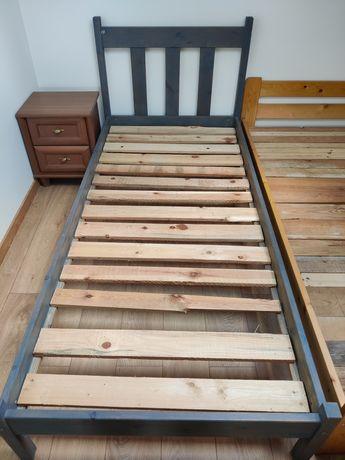 Łóżko drewniane sosnowe 90x200 ze stelażem bez materaca