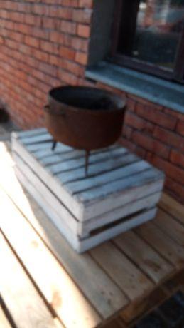 Stary baniak żeliwny loftt PRL ozdoba