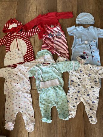 Набор костюмчиков для новорождённого малыша 56-62